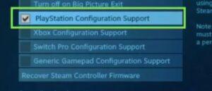Een PS4-controller op Steam gebruiken - PlayStation-configuratie-ondersteuning