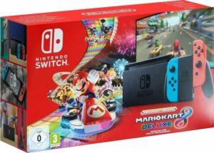 Nintendo Switch Console - Blauw-Rood - Nieuw Model + Mario Kart