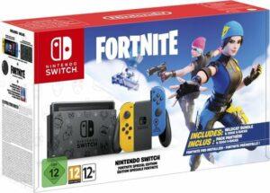 Nintendo Switch Console - Geel - Blauw - Nieuw model - Incl. Fortnite