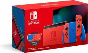 Nintendo Switch Console - Rood - Blauw - Nieuw model - Super Mario Limited Edition