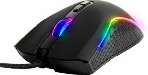 Silvergear Gaming Muis met RGB LED Verlichting - 800-6400DPI - Bedraad - Zwart